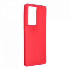 Силиконов гръб FORCELL Soft - Samsung Galaxy S21 Ultra червен