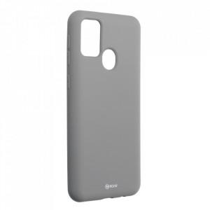 Силиконов гръб ROAR Colorful Jelly - Samsung Galaxy M21 сив