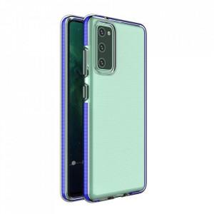 Силиконов гръб Spring с цветна рамка - Samsung A72 4G/5G тъмносин