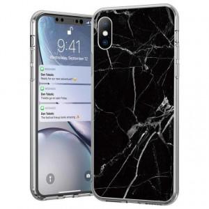 Силиконов гръб WOZINSKY Marble - Xiaomi Mi 10 Lite черен