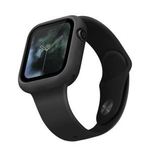 Силиконов калъф UNIQ Lino - Apple Watch 4 / 5 44mm - пепелно черен
