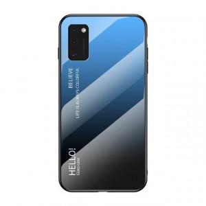 Стъклен гръб - Samsung Galaxy A41 черен-син
