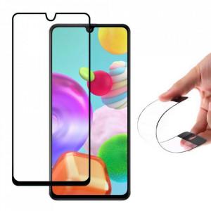 Стъклен протектор пълно покритие с рамка Wozinsky Flexi Nano Glass Hybrid - Samsung Galaxy A41 черен