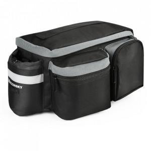 Чанта за багажник на велосипед WOZINSKY с презрамка и калъф за бутилки 6 л черна