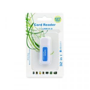 Четец за карта памет USB Titanium SDHC/SD / mmC / RS-mmC / Mini-SD(adapter) / Micro USB SD(adapter) / TF(adapter) / XD / MS / MS DUO / MS Pro DUO 2.0