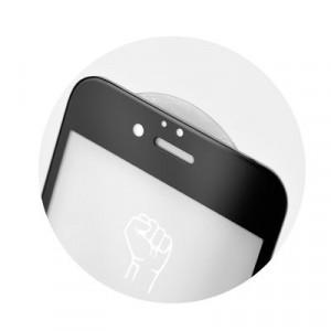 5D Full Glue закален стъклен протектор ROAR - iPhone XR / 11 черен