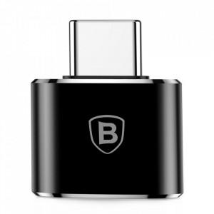 BASEUS Converter USB to Type-C Adapter Connector OTG черен (CATOTG-01)