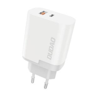 Dudao зарядно за стена EU USB / Type-C Power Delivery Quick Charge 3.0 3A 22.5W бял (A6xsEU бял)