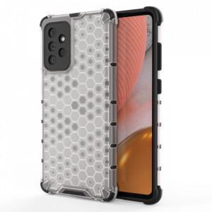 Гръб Honeycomb Armor със силиконов бъмпер - Samsung Galaxy A72/A72 5G прозрачен