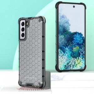 Гръб Honeycomb Armor със силиконов бъмпер - Samsung Galaxy S21 Plus прозрачен