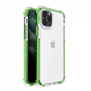 Гръб Spring Armor с цветна рамка - iPhone 11 Pro зелен
