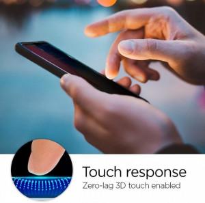 Закален стъклен протектор Spigen Align Master TR anti-spy с рамка за поставяне - iPhone 11