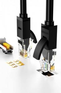 Кабел Ugreen Ethernet patchcord RJ45 Cat 6 UTP 1000Mbps 2m черен (20160)