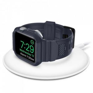 Каишка Spigen Rugged Armor - Apple Watch 4 / 5 44mm тъмносив