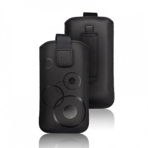 Калъф тип джоб FORCELL Deko - iPhone X / XS / 11 Pro / Samsung Galaxy A40 / S10e черен