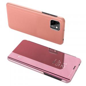 Калъф тип книга Clear View (активен капак) - Huawei Y5p розов