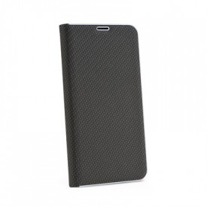 Калъф тип книга Luna Carbon - iPhone 12 / 12 Pro черен