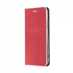Калъф тип книга Luna Silver - Samsung Galaxy S21 Ultra червен