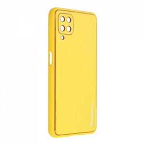 Кожен гръб Forcell LEATHER - Samsung Galaxy A22 5G жълт