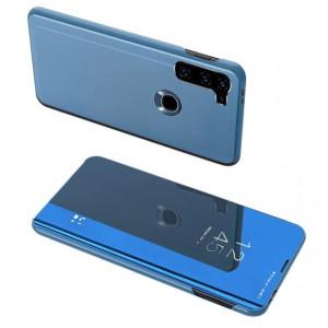Огледален калъф тип книга Clear View - Motorola Moto G8 Power син