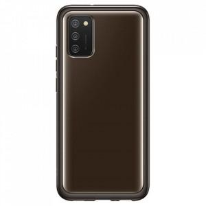 Оригинален гръб Samsung Galaxy Clear Cover EF-QA026TBEGEU - Samsung Galaxy A02s черен