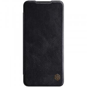 Оригинален кожен калъф тип книга Nillkin Qin - Samsung Galaxy A12/M12 черен
