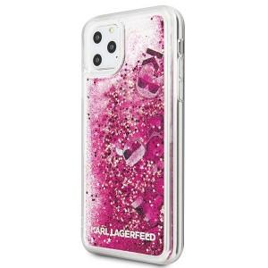 Оригинален твърд гръб KARL LAGERFELD Glitter KLHCN65ROPI - iPhone 11 Pro Max розов-златен
