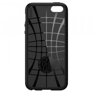 Релефен гръб Spigen Rugged Armor - iPhone 5 / 5S / SE черен
