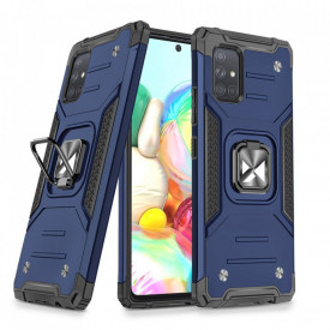 Релефен гръб Wozinsky Ring Armor със стойка - Samsung Galaxy A71 5G син