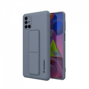 Силиконов гръб със стойка Wozinsky Kickstand - Samsung Galaxy M51 син