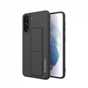 Силиконов гръб със стойка Wozinsky Kickstand - Samsung Galaxy S21 Plus 5G черен