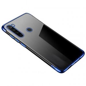 Силиконов гръб Clear Color с кант - Huawei P40 син