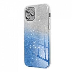 Силиконов гръб FORCELL Shining - Samsung Galaxy A12 прозрачен-син
