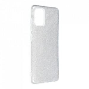 Силиконов гръб FORCELL Shining - Samsung Galaxy A52 5G / A52 LTE ( 4G ) сребрист