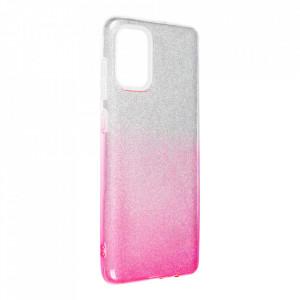 Силиконов гръб FORCELL Shining - Samsung Galaxy A72/A72 5G сребрист / розов