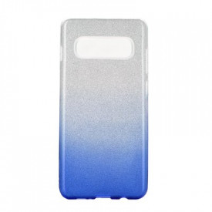 Силиконов гръб FORCELL Shining - Samsung Galaxy S20 Plus / S11 прозрачен-син