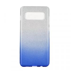 Силиконов гръб FORCELL Shining - Samsung Galaxy S20 Plus / S11 сребрист / син
