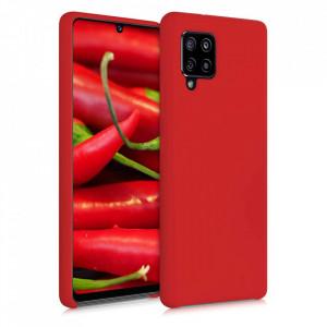 Силиконов гръб Soft Flexible Rubber - Samsung Galaxy A42 5G червен