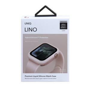 Силиконов калъф UNIQ Lino - Apple Watch 4 / 5 44mm - пудра