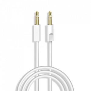 90° кабел Dudao AUX мини жак 3.5mm 2m 4-pole stereo бял (L12S бял)