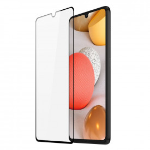 9D закален стъклен протектор DUX DUCIS с пълно покритие и рамка (съвместим с гръб) - Samsung Galaxy A42 5G черен