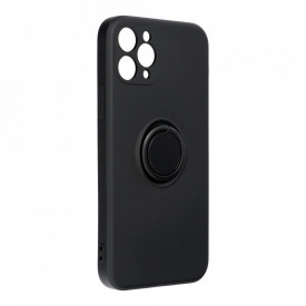 Гръб Forcell SILICONE RING - iPhone 12 PRO MAX черен