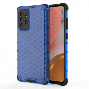 Гръб Honeycomb Armor със силиконов бъмпер - Samsung Galaxy A72/A72 5G син