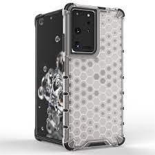 Гръб Honeycomb Armor със силиконов бъмпер - Samsung Galaxy S21 Ultra прозрачен