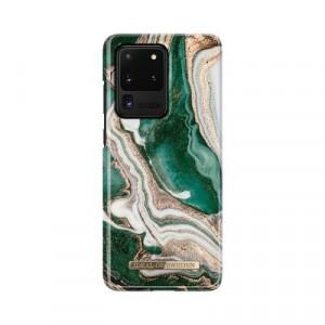 Гръб iDeal of Sweden - Samsung Galaxy S20 Ultra златист-нефрит-мрамор