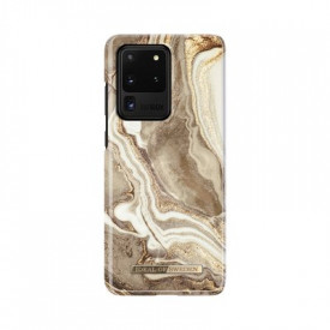 Гръб iDeal of Sweden - Samsung Galaxy S20 Ultra златист-пясък-мрамор