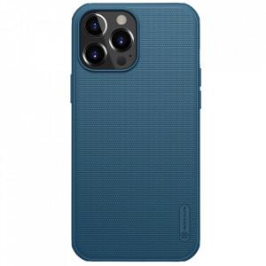 Гръб Nillkin Super Frosted Shield + стойка - iPhone 13 Pro Max син