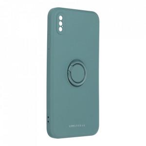 Гръб Roar Amber с държач - iPhone Xs Max зелен