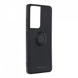 Гръб Roar Amber с държач - Samsung Galaxy S21 Ultra черен