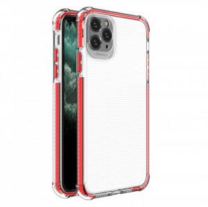 Гръб Spring Armor с цветна рамка - iPhone 11 Pro Max червен
